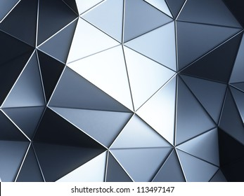 3d  abstract blue crystals backgrounds