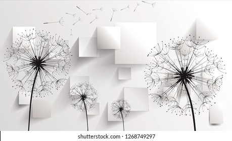 3D Abstract Flower With Pattern Design