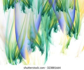 3d abstract fractal illustration background for creative design