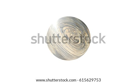 3 d abstract image planet earth globe stock illustration 615629753