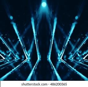3D abstract lights lens flare background - 3D illustration