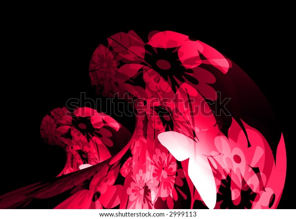 3d abstract pink waves
