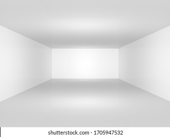 3D Abstract room white background