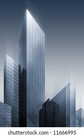 3d abstract skyscrapers