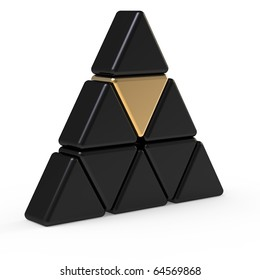 3d abstract triangle icon