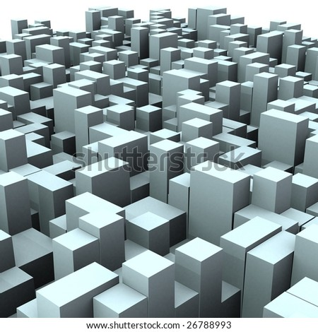Cube Urban 3 d abstract urban city boxes cube stock illustration 26788993