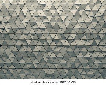3d abstract wall with triangles pattern. High quality textured concrete material.  Modern background.