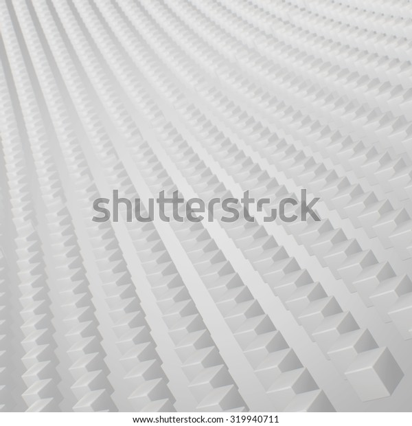 3d abstract white cubes background