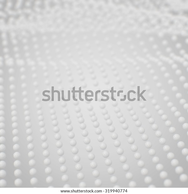 3d abstract white sphere background
