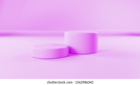 3d abstraction pink podium background