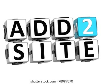 3D Add to Site Cube text on white background