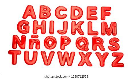 3D alphabet ballon