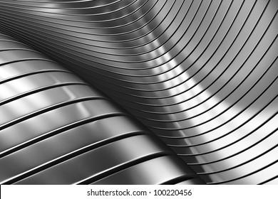 3D-Aluminium-Abstrakte, silberner Hintergrund