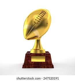 3d american football trophy