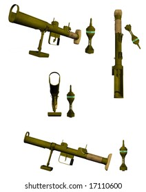 3D anti-tank rocket launcher and rocket