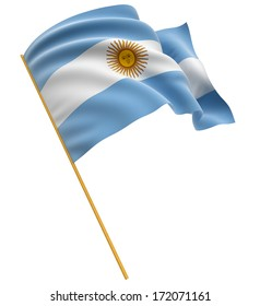 3D Argentina flag (clipping path included)