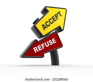3d arrowa. Accept or refuse