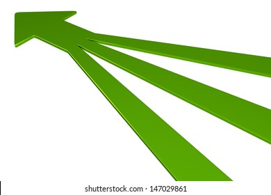 3D Arrows - Green