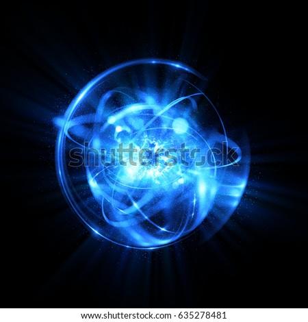 3 d atom icon luminous nuclear modelのイラスト素材 635278481