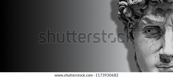 Illustration De Stock De 3d Fond Noir Et Blanc Face 1173930682