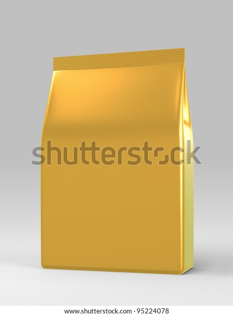 3D bag medium package on a white background