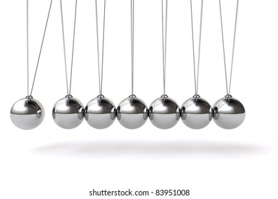 3d balancing balls newtons cradle background