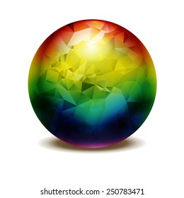 3d ball in rainbow colors