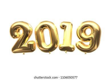 3D balloon 2019 new year celebration