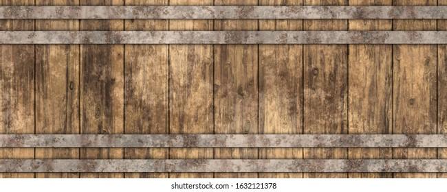 3d beer barrel wooden texture background