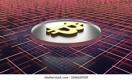3d bitcoin abstract background