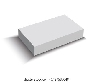 3D of blank package isolated in white background
