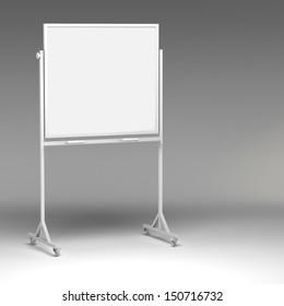 3d Blank Whiteboard