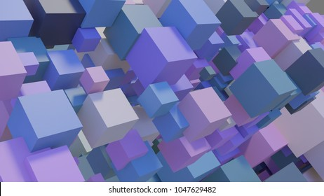 3d blocks background in pastel colors