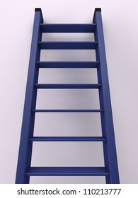 3D blue staircase