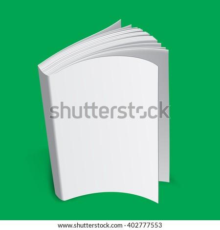 3 D Book Template Render Book Mockup Stock Illustration Royalty