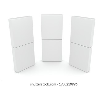 3D box on white background