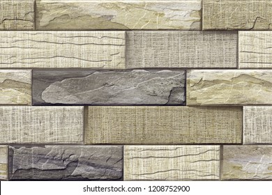 3d Bricks wall elevation for background