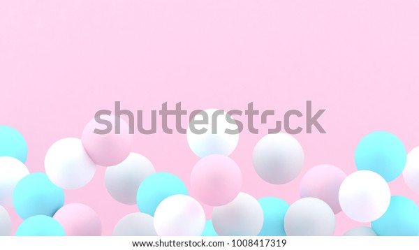3d bubbles spheres background abstract 600w 1008417319