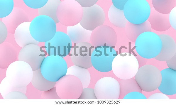 3d bubbles spheres background abstract 600w 1009325629