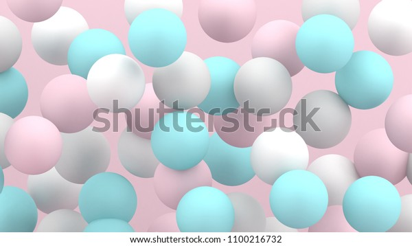 3d bubbles spheres background abstract 600w 1100216732