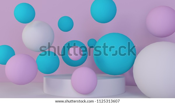 3d bubbles spheres background abstract 600w 1125313607