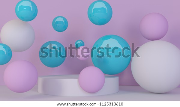 3d bubbles spheres background abstract 600w 1125313610