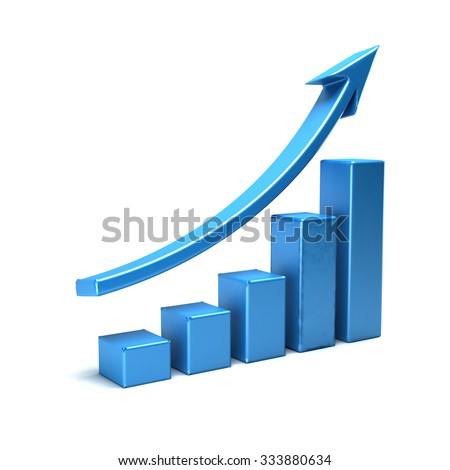 3 d business growth bar graph curveのイラスト素材 333880634