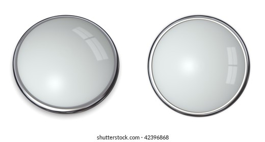 3D button template in solid silver-gray/silver-grey