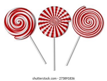 3D. Candy, Lollipop, Lolipop.