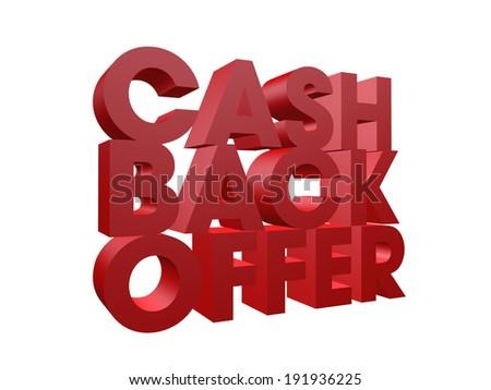 3 d cash back offer word on stock illustration 191936225 shutterstock