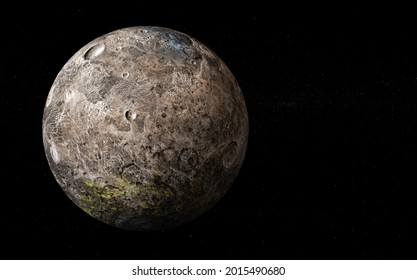3D Ceres Planet Rendering Space View