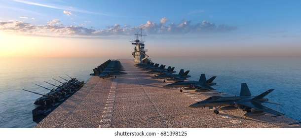 3D CG rendering of the aircraft carrier