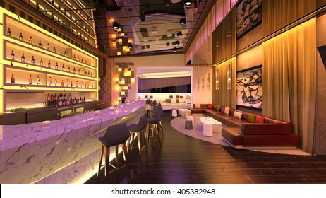 3D CG rendering of the bar