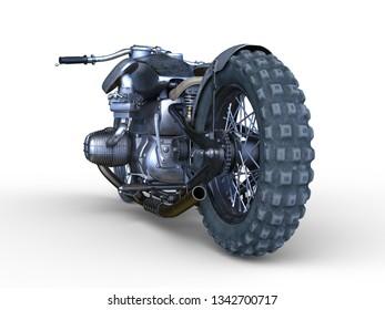 3D CG rendering of bike
